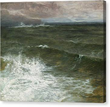 Storm Canvas Print - Lannacombe Bay by GV Cole