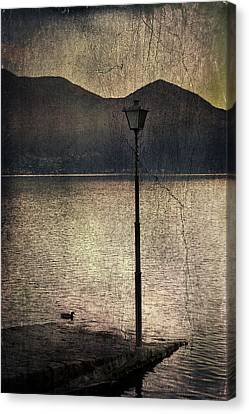 Lantern At The Lake Canvas Print