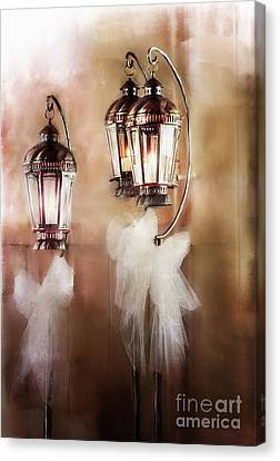 Candle Stand Canvas Print - Lanterns by Stephanie Frey
