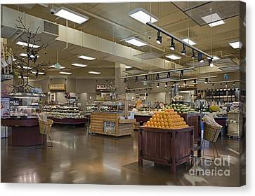 Large And Modern Grocery Store Canvas Print
