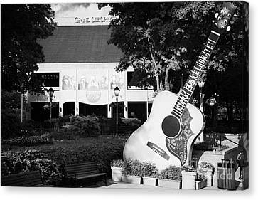 Nashville Tennessee Canvas Print - large guitar outside Grand Ole Opry House building Nashville Tennessee USA by Joe Fox