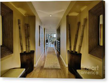 Large Hallway In Upscale Residence Canvas Print by Andersen Ross