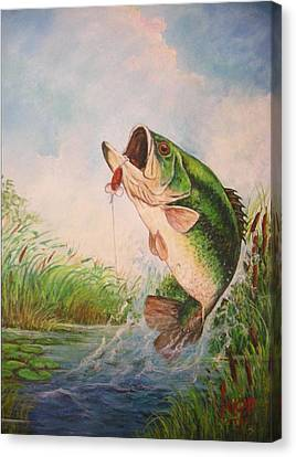 Largemouth Bass Canvas Print