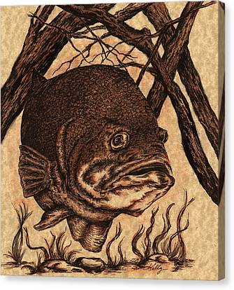 Largemouth Bass Canvas Print by Kathleen Kelly Thompson