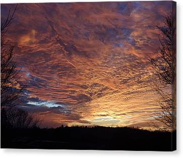 Canvas Print featuring the painting Lascassas Sunset Five by Carol Berning