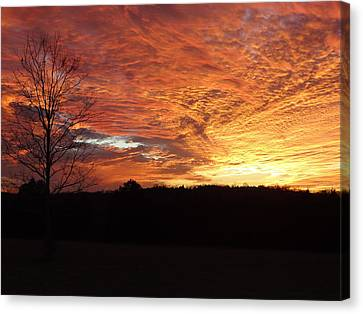 Canvas Print featuring the painting Lascassas Sunset Four by Carol Berning