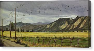 Last Harvest Canvas Print by Victoria  Broyles