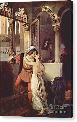 Last Kiss Of Romeo And Juliet Canvas Print by Pg Reproductions