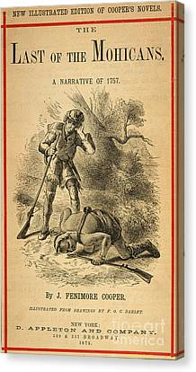 Last Of The Mohicans, 1872 Canvas Print by Granger