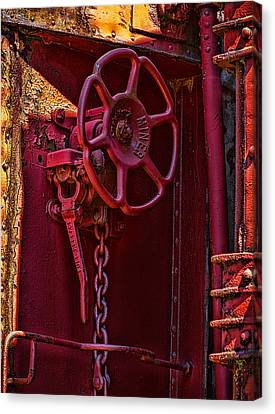 Canvas Print featuring the photograph Last Red Caboose by Ken Stanback