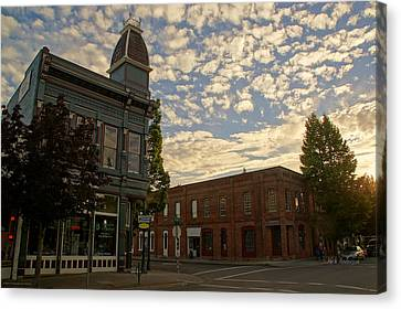 Late Afternoon At The Corner Of 5th And G Canvas Print