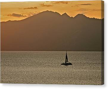 Late Afternoon Cruise In The Paniolo Channel Canvas Print by Kirsten Giving