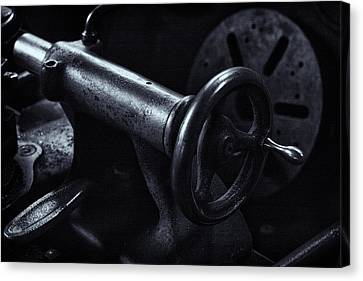 Canvas Print featuring the photograph Lathe Handle by Tom Singleton