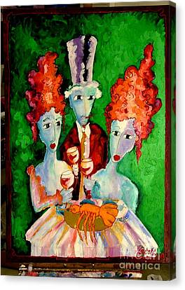 Laubar - You And I Eat Canvas Print by Laurens  Barnard