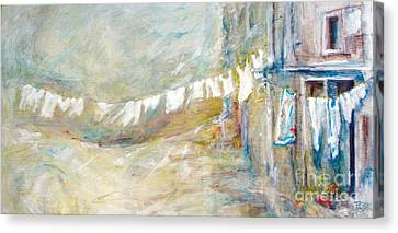 Laundry Line Canvas Print by Patty Kingsley