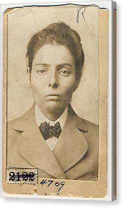 Laura Bullion 1876-1961, Female Member Canvas Print by Everett