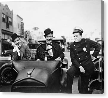 Laurel And Hardy, 1928 Canvas Print by Granger