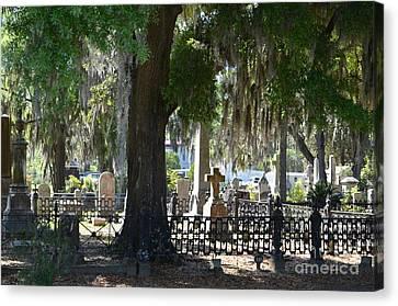 Laurel Grove Cemetery - Savannah Georgia Canvas Print by Randy Edwards