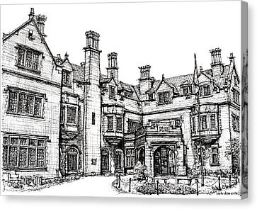 Laurel Hall In Indiananapolis Canvas Print by Building  Art
