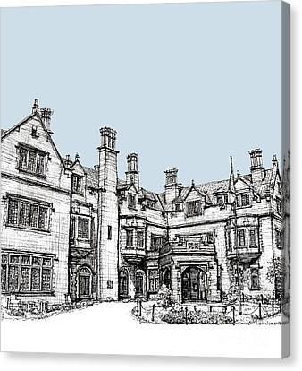 Building Canvas Print - Laurel Hall In Light Blue by Building  Art