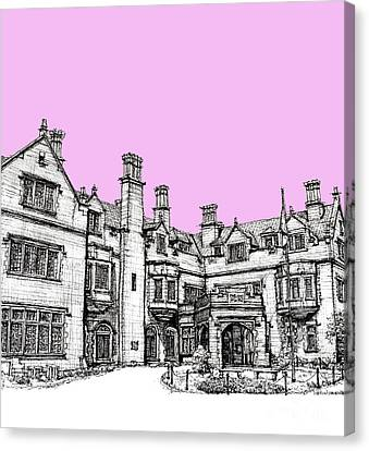 Building Canvas Print - Laurel Hall In Pink by Building  Art