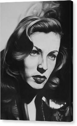 Lauren Bacall Canvas Print by Steve Hunter