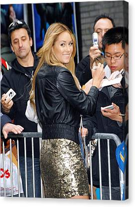 Sullivan Canvas Print - Lauren Conrad Wearing Kate Moss by Everett