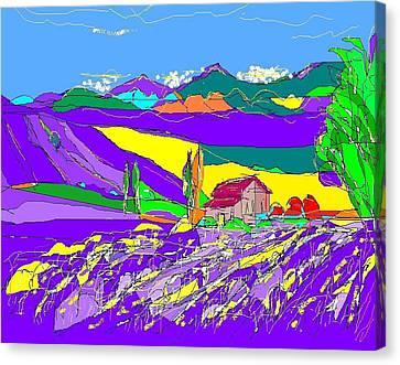 Lavender Fields Canvas Print by Alberto Lacoius-Petruccelli