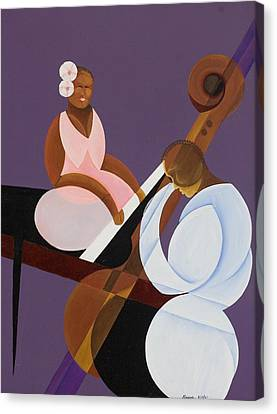 Piano Canvas Print - Lavender Jazz by Kaaria Mucherera