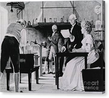 Lavoisier Chemistry Laboratory Canvas Print by Science Source