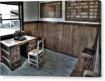 Law Man's Office - Molson Ghost Town Canvas Print by Daniel Hagerman