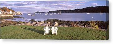 lawn Chairs At Lobster Village, Tenants Harbor, Maine Canvas Print