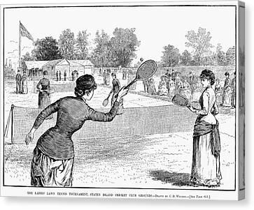 Lawn Tennis, 1883 Canvas Print by Granger