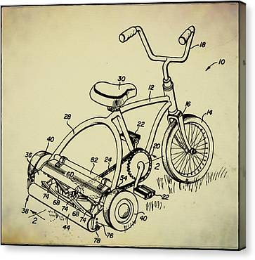 Lawnmower Tricycle Patent Canvas Print by Bill Cannon