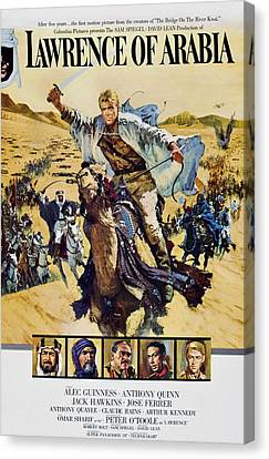 Lawrence Of Arabia, Top Peter Otoole Canvas Print by Everett