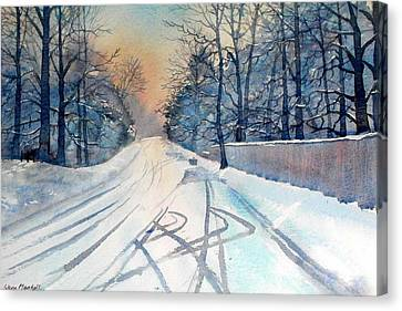 Layby In The Snow Canvas Print