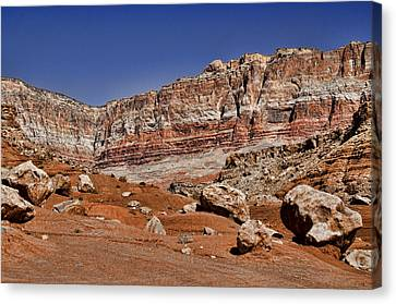 Layered Cliffs Canvas Print by Jon Berghoff