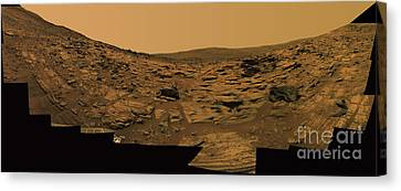 Layered Exposures Of Rock Canvas Print by Stocktrek Images