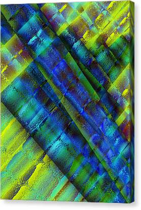 Canvas Print featuring the photograph Layers Of Blue by David Pantuso