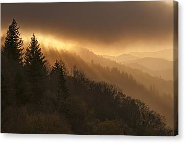 Layers Of Light Canvas Print by Joseph Rossbach