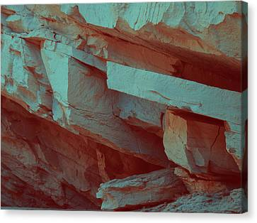 Layers Of Rock Canvas Print