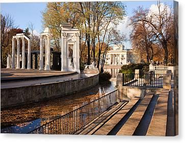 Lazienki Park In Warsaw Canvas Print by Artur Bogacki