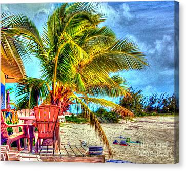 Lazy Beach Day Canvas Print by Debbi Granruth