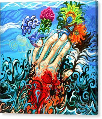 Le Destin Du Humain Grande Canvas Print by Genevieve Esson