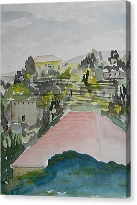 Le Liban Perdu 1  Canvas Print by Marwan George Khoury