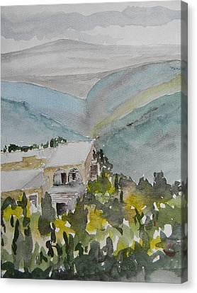 Le Liban Perdu 2 Canvas Print by Marwan George Khoury
