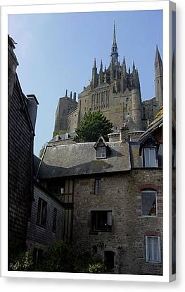 Canvas Print featuring the photograph Le Mont-michel by Frank Wickham