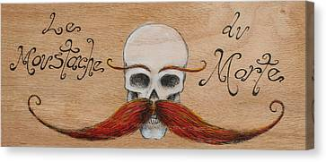 Le Mustache Du Morte Canvas Print by Canis Canon