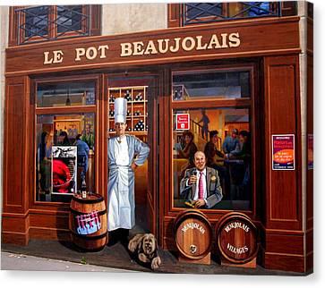 Le Pot Beaujolais Canvas Print by Laurel Talabere