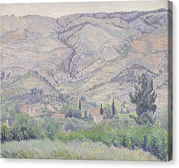 Le Ragas Near Toulon Canvas Print by Camille Pissarro